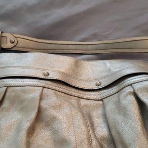 Coach Bags - Coach Metallic Silver Shoulder Bag